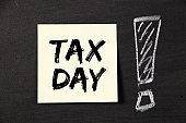 Tax Day Concept On Sticky Note