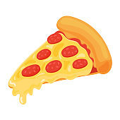 Pizza is a very popular fast food. isolate on white background.