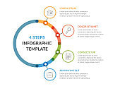Infographic Template with Four Elements