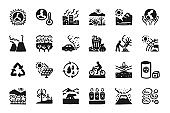 global warming Icon set