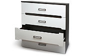Modern chest of drawers opened drawer