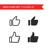 Social media. Thin line icons vector set