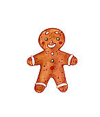 christmas gingerbread man cookie or bisquit