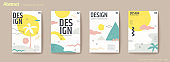 Resort island concept flyer set