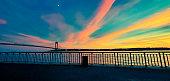 Beautiful Sunset by the Verrazzano-Narrows Bridge