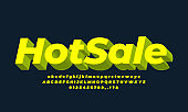 Hot sale Discount promotion 3d  yellow template