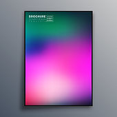 Abstract poster design with colorful gradient texture for wallpaper, flyer, poster, brochure cover, typography or other printing products. Vector illustration