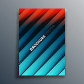Cover template with diagonal lines for flyer, poster, brochure, typography or other printing products. Vector illustration