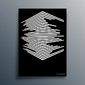 Abstract geometric typography with perspective lines design for poster, flyer, brochure cover, or other printing products. Vector illustration