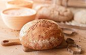Fresh bread in bakery