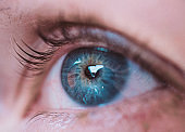 Close-Up Of Blue Woman Eye
