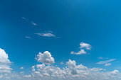 Clouds and blue sky on a bright day
