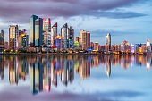 Qingdao Financial District building landscape skyline