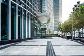 Shanghai Financial District Plaza office building and street view