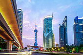 Urban landscape of Lujiazui Financial District, Shanghai