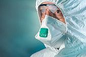 Tired epidemiologist in wuhan-coronavirus quarantine