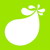 milk blob shape on lemon green for banner copy space, aqua background, white milk blob splash on bright green, water droplet on lime green for banner, milk blob simple for graphic ad design