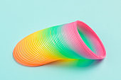 Colorful magic plastic spiral spring toy