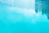 Blue swimming pool water as background