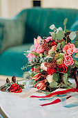 festive items table flowers shoes female accessories