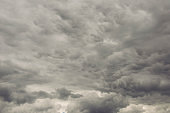 Dark clouds on sky before rainy and storm
