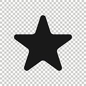 Star icon in flat style. Shape vector illustration on white isolated background. Geometric emblem business concept.