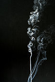 smoke cloud with black background. fog texture