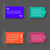 Quotation and notice 3d vector bookmarks