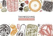 Thanksgiving day dinner menu template