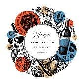 French cuisine round design
