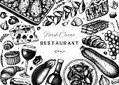 French cuisine menu design