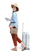 Young woman travel