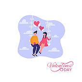 Romantic relationship. Concept on Valentine Day theme.