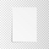 List paper on transparent background