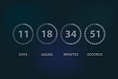 Countdown circle time background illustration
