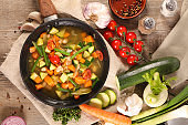 vegetable stew, soup in casserole