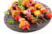 vegetable grilled barbecue with cob corn, tomato,bell pepper,onion