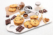 chocolate cookies with ingredient- cooking chocolate biscuit
