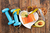 diet food concept- antioxidant, omega 3
