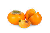 persimmons fruit isolated on white background