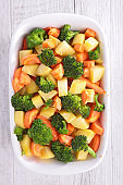 mixed vegetable with potato, broccoli and carrot