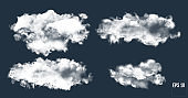 Realistic thundercloud. Gradient mesh cloud.