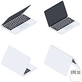 Flat Isometric Laptops. Flat Notebooks. Computers