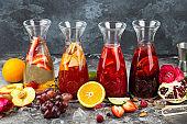 Summer fruits berries beverages Fresh drinks juices