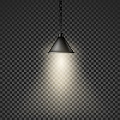 Isolated Cone Lamp. Modern office or home interior. Vector illustration