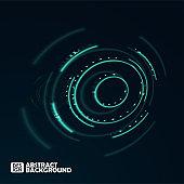Abstract futuristic blurred circles