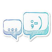 Sticker style icon - Chatting