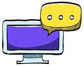 Webinar icon in color drawing