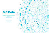 Abstract infographics visualization