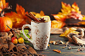 Autumn or winter spice tea